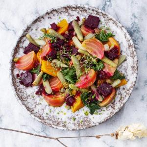Salat beter sylteagurk